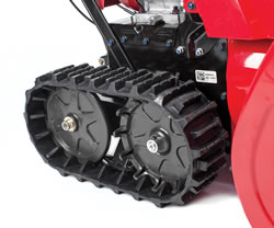 Track drive offers the best traction and control available